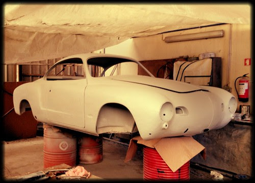 58 karmann Ghia, ready for the paint job! @ GrrrGarage! by GrrrBug!!!