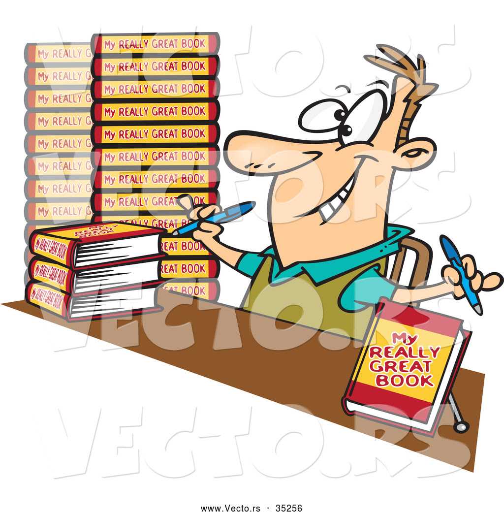 Image result for cartoon graphic book writer