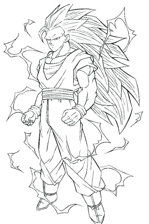 Dragon Ball Z Goku Coloring Pages Coloring And Drawing
