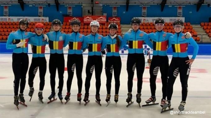 Belgische shorttrackers maken kennis met het olympische ijs in Peking