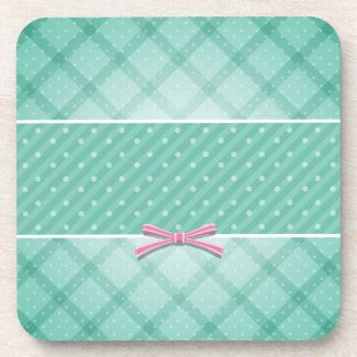 Polka Dot {green} Coaster
