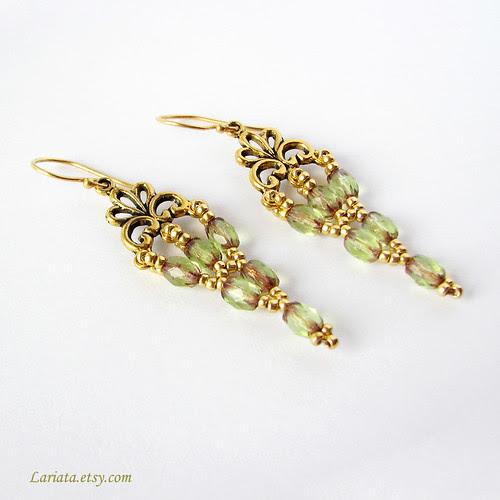 beadwoven victorian earrings