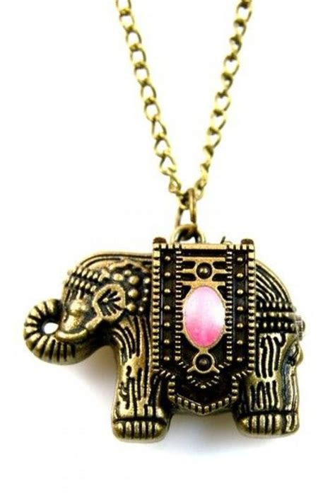 Good Luck Elephant Pocket Watch Necklace #2048535   Weddbook