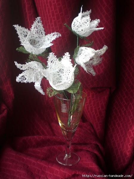 Нежные цветы, снеговик и декоративные шары из ниток. Мастер-классы (30) (450x600, 151Kb)