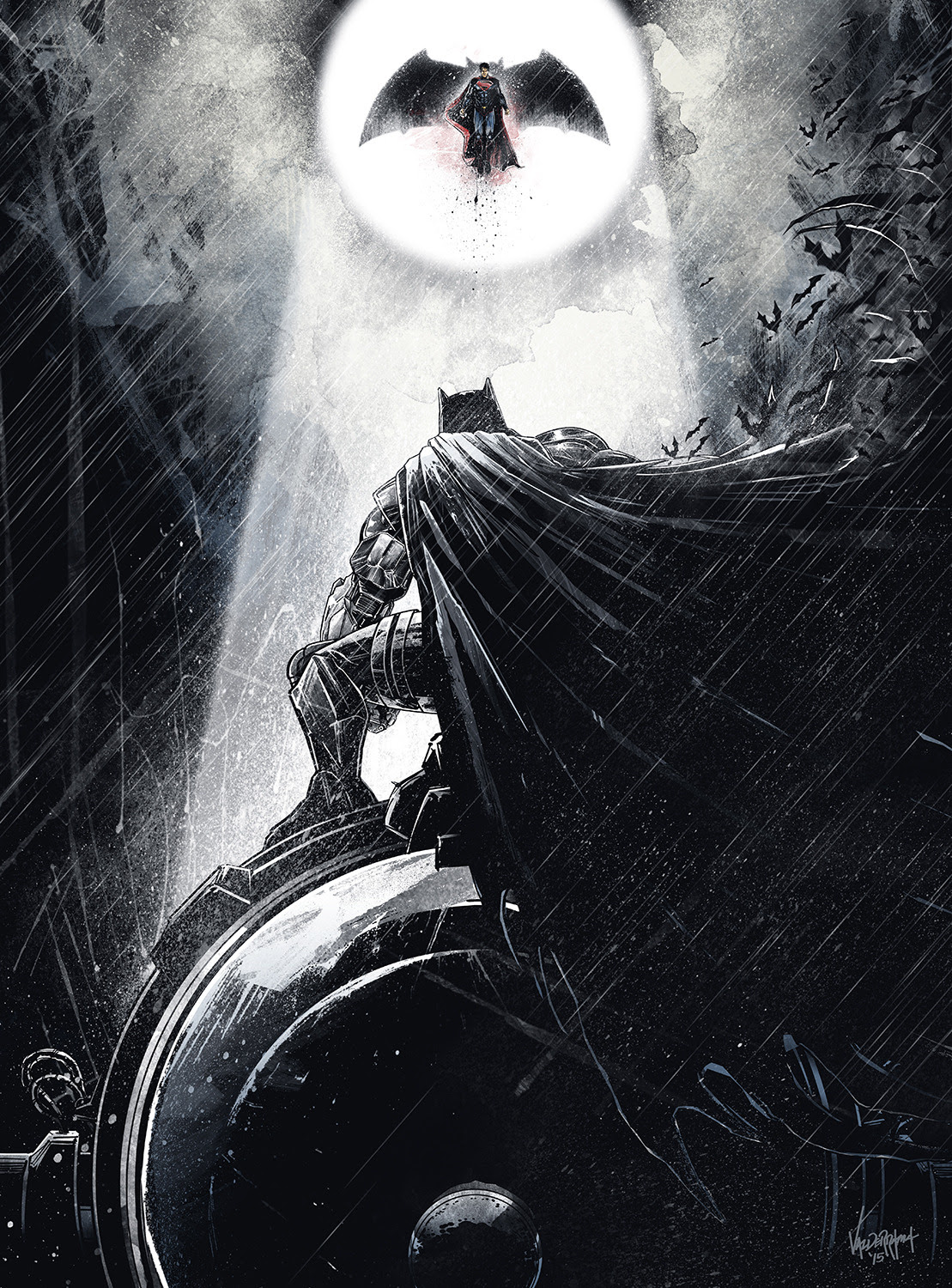 Batman Vs. Superman by JP Valderrama