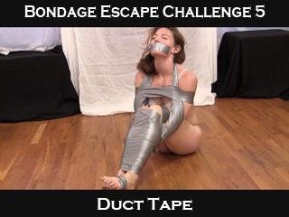 bondage escape challenges bring on the duct tape bondage