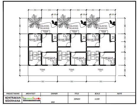 denah rumah kontrakan | desain rumah minimalis
