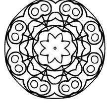 Mandalas De Flores Para Colorear Faciles