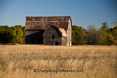 Gray Barn in Autumn, Monroe County, Wisconsin