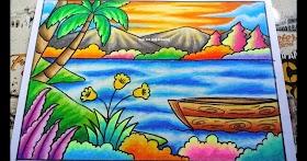 Gambar Pemandangan Gunung Gradasi