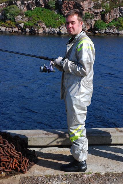 Aidan fishing