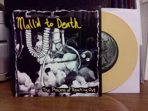 "Mall'd To Death - The Process Of Reaching Out 7"" - Yellow Vinyl /100"