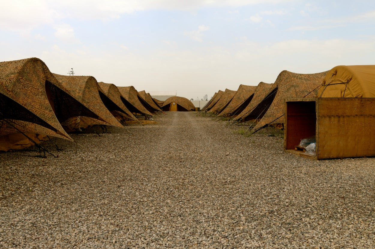 This U.S. base in northern Iraq feels like many other U.S. facilities scattered throughout the Middle East, North Africa, and Central Asia. (Photo: Nolan Peterson/The Daily Signal)