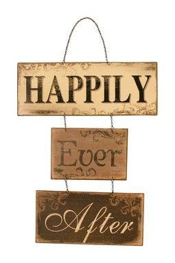 Happily Ever After Sign.