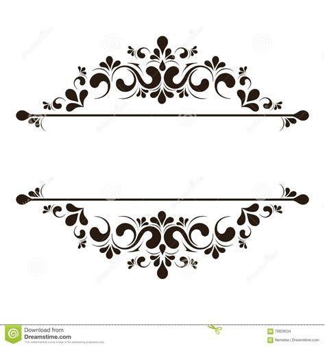 Elegant Frame Banner, Floral Elements. Vector Illustration