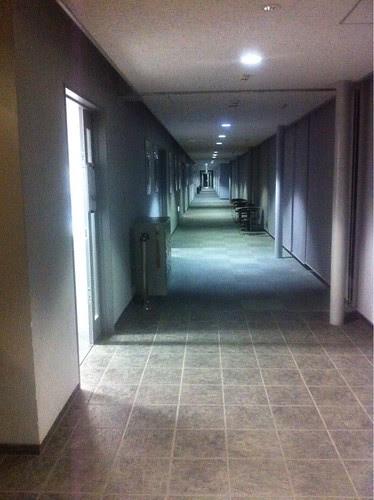 Corridor of Honjo Arts and Science center (Waseda University)