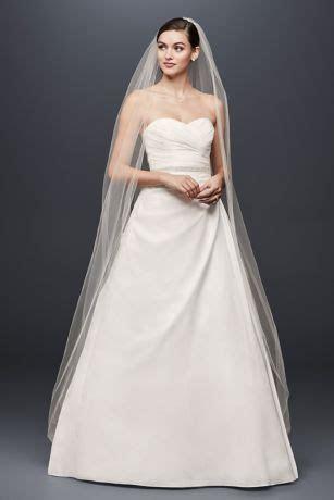 Taffeta A Line Wedding Dress with Sweetheart Neck   David