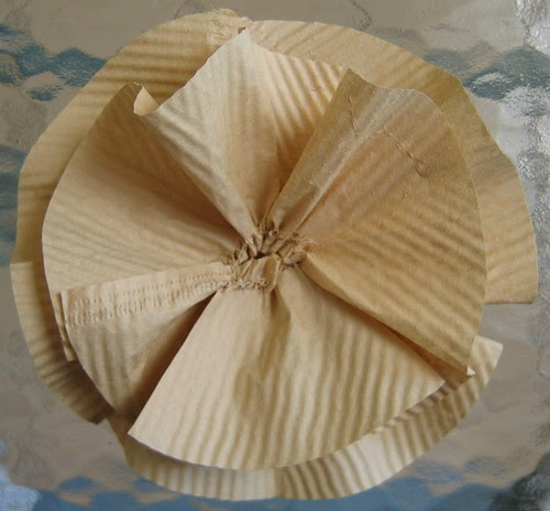 Coffee Filter Flower Construction