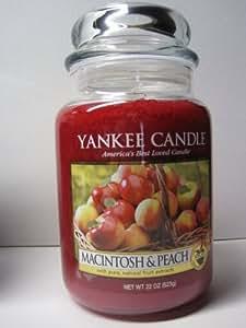 Amazon.com - Macintosh & Peach Large Jar Candle - Yankee ...