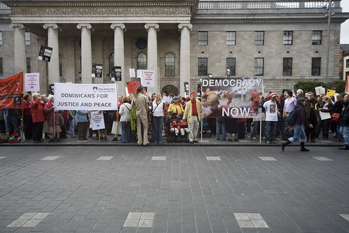 Burma Protest Rally - O'Connell Street in Dublin by infomatique
