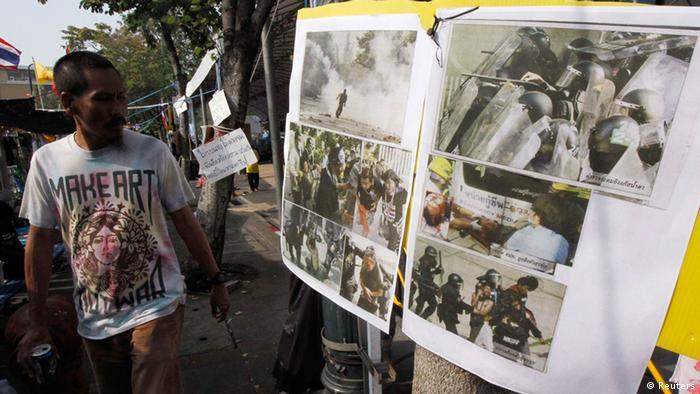 Antiregierungsproteste in Bangkok. (Foto: Reuters)