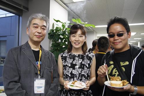 With Ishizaka-san and the emcee lady