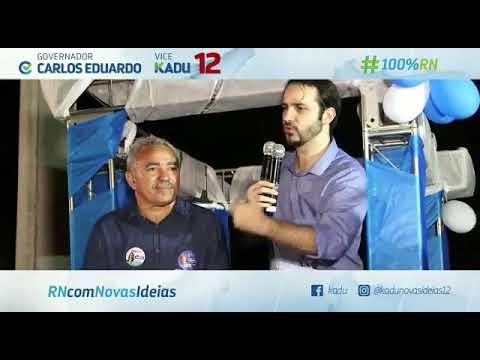 Vídeo e imagens da Carreata da vitória com Mestre Raimundo,Elaine Neves e o vice governador Kadu Ciarline