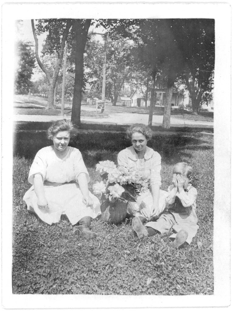 Two women and a kid