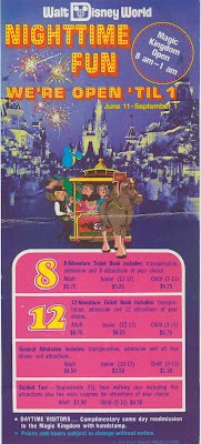 Vintage Disneyland Tickets: Walt Disney World - 1973