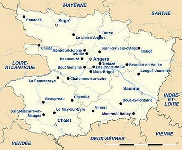 01 Le Maine Et Loire Géologie Et Géographie Le Maine