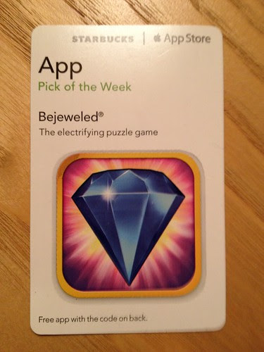 Starbucks Pick of the Week - 01/31/2012 - Bejeweled [app]
