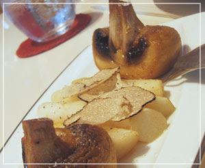 「LES ROSIERS EGUZKILORE」にて、付け合わせのおすすめ野菜
