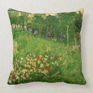 Daubigny's Garden by Vincent van Gogh throwpillow