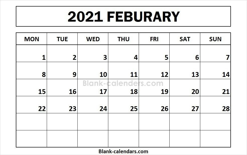 Printable Childrens February 2021 Calendar   Printable March