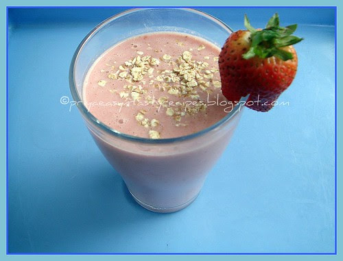 Raspberry & Oats Smoothie