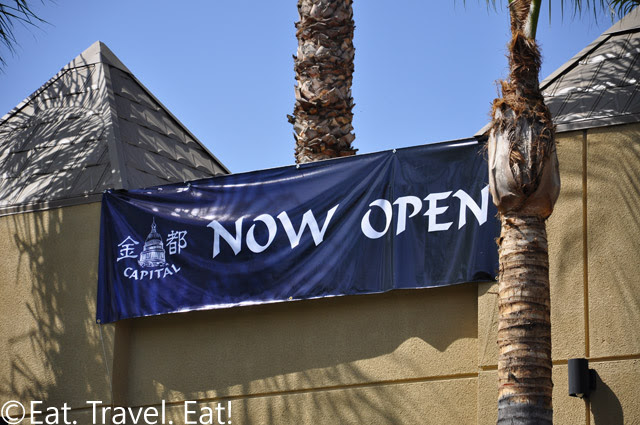 Now Open Sign Capital Seafood