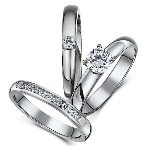 View Full Gallery of Elegant Wedding Rings Sets Uk