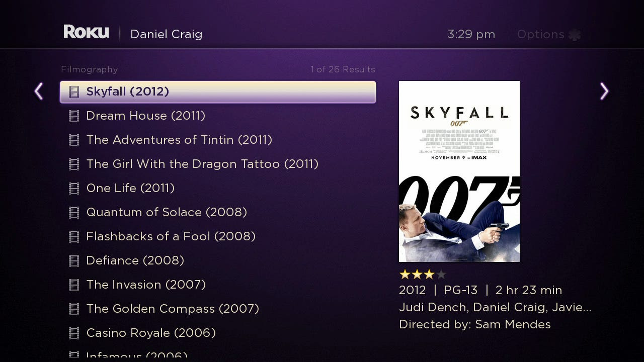 roku 3 search results for actor
