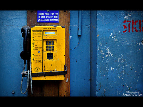 Yellow Telephone Booth