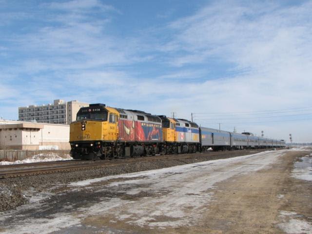 VIA 6408 in Winnipeg March 1, 2010