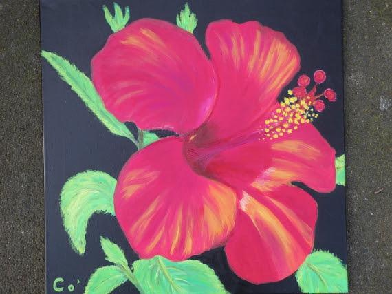 Fleurs Exotiques Peinture