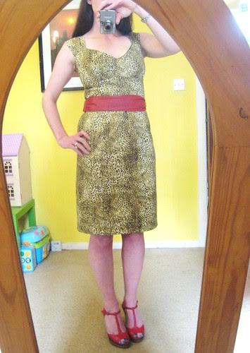 leopard dress belted