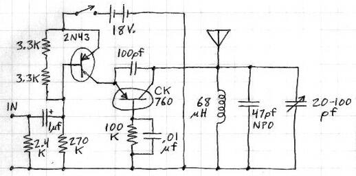 cool electronics circuits  small am transmitter