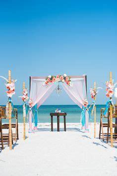 coral aqua and white wedding arch   Google Search   W E D