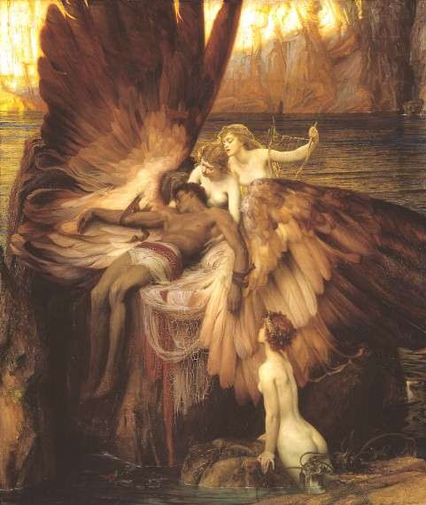 The Lament for Icarus by Herbert James Draper, 1898.