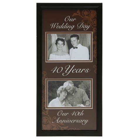 Moments Now and Then Picture Frame   40th Wedding