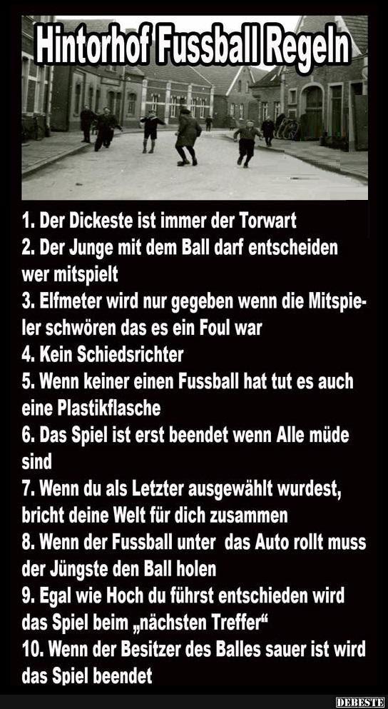 Hintorhof Fussball Regeln Lustige Bilder Sprüche Witze Echt Lustig