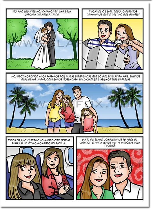 quadrinhos personalizado, quadrinhos família, quadrinhos homenagem, quadrinhos presente original, história família, quadrinhos divertidos, by ila fox