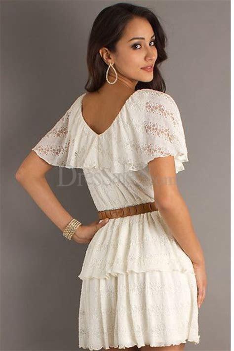 White Lace Dresses Juniors   Fashion Belief