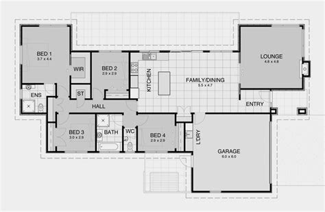 contemporary plan  modern nz house floor plans